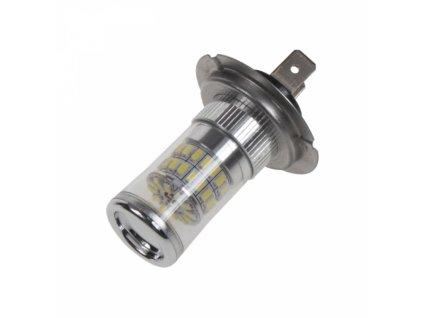 TURBO LED žárovka 12-24V s paticí H7 48W bílá