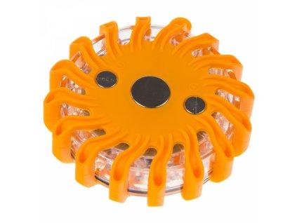 LED výstražné světlo 16LED oranžové
