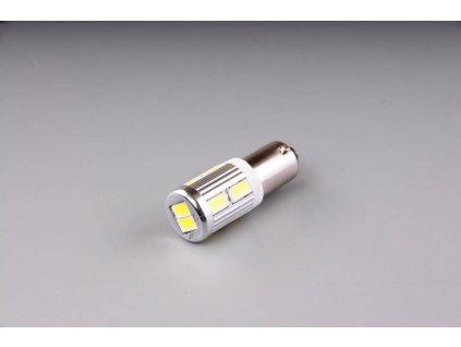 žárovka LED 12V-24V 21W BAY9s čirá 10xSMD 5630