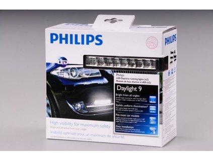 Světlomet pro denní svícení 9LED 12V PHILIPS DRL