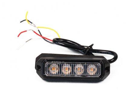 strobo maják - predátor 12/24V Elta, 4x LED, oranžový