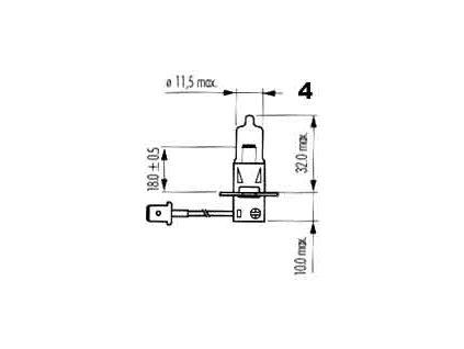 Specielní žárovka H3 48V 50W PK22s
