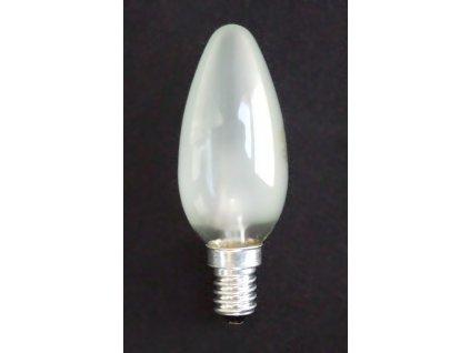 Žárovka E14 25W svíčka matná
