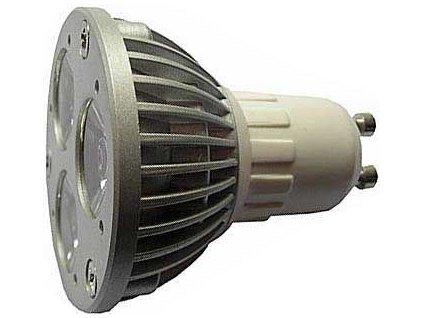 Žárovka LED GU10-3x1W,teplá bílá,230V/3W