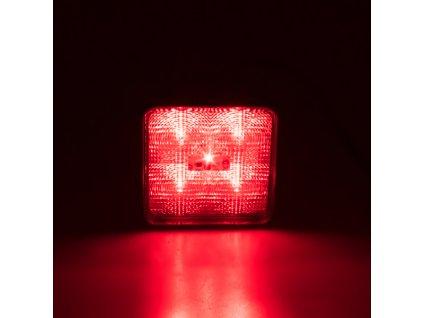Výstražné LED světlo vnější červené 12/24V