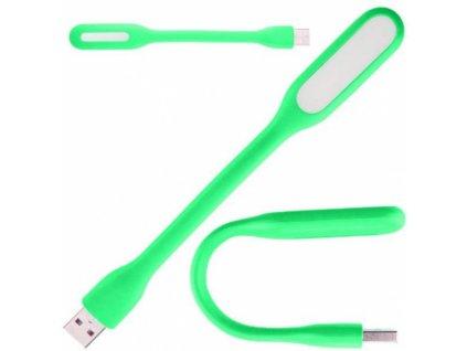 USB lampička 6x LED zelená