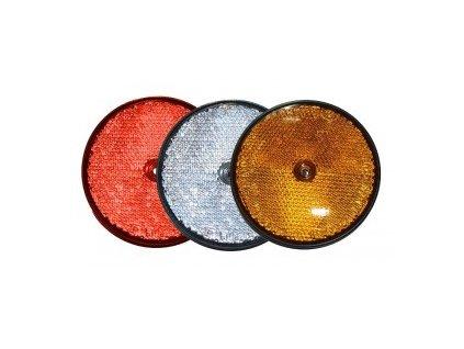 Plastová odrazka s dírou oranžová - 60 mm
