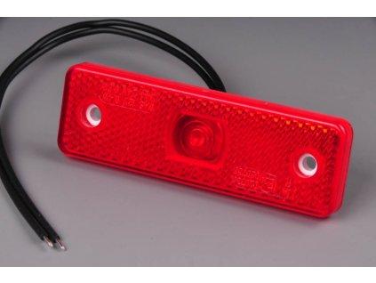 světlo poziční W44 (218P) červené LED 12V+24V