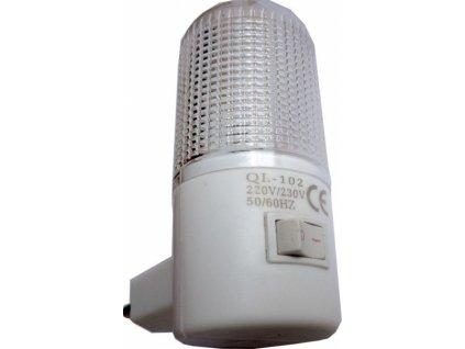 Noční světlo LED 230V/1W do zásuvky bílé
