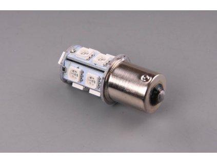 LED žárovka 24V 21W BA15s oranžová 13xLED5050