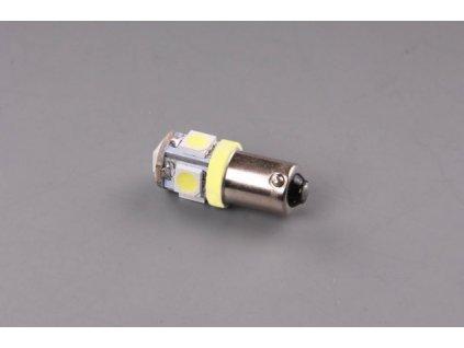 LED žárovka 24V 4W BA9s oranžová 5xLED 5050