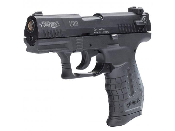 Plynová pistole Walther P22 černá cal.9mm