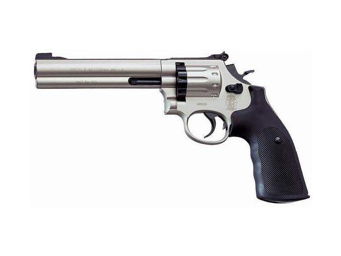 """Vzduchový revolver Smith&Wesson 686 6"""" nikl"""