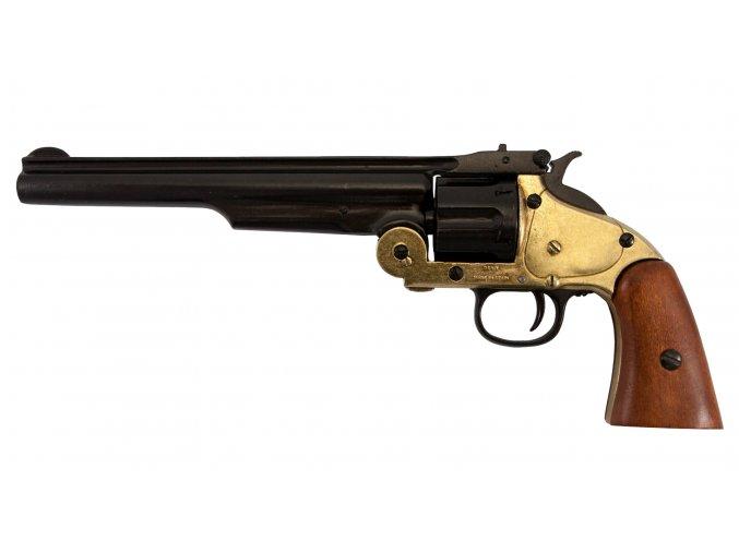 Replika Revolver Schofield cal.45 r.1869 zlatý
