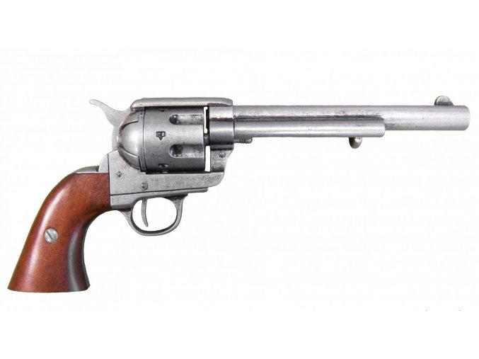 """Replika Revolver ráže 45, USA 1873 , 7 1/2"""" nikl"""