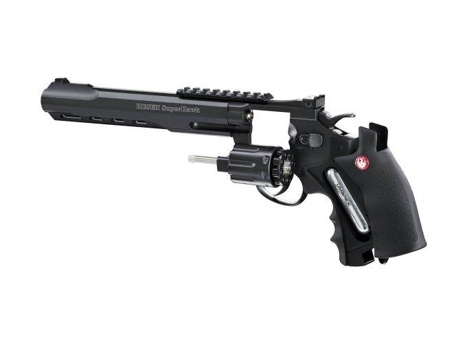 """Airsoft Revolver Ruger SuperHawk 8"""" černý AGCO2"""