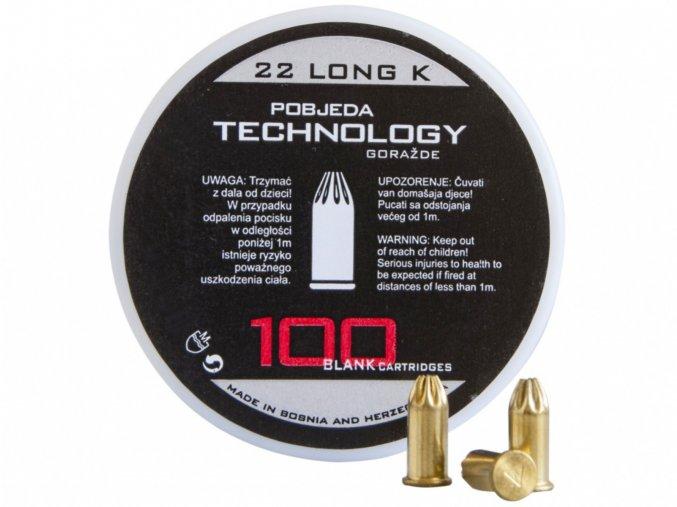 Startovací náboje 6mm Long revolver 100ks Pobjeda