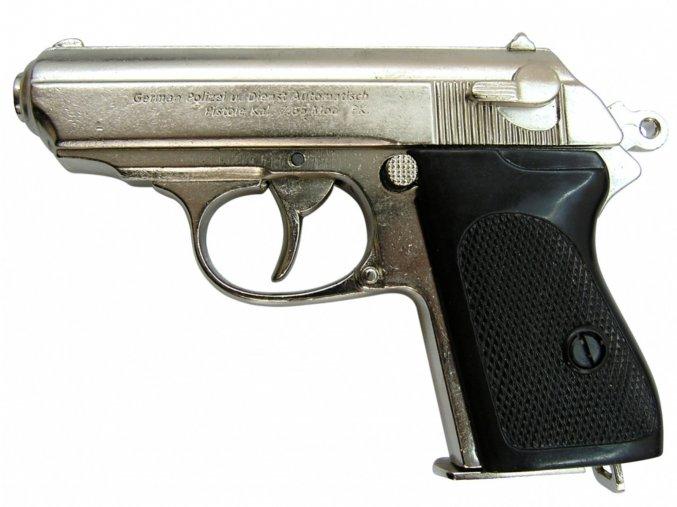 Replika Německá Pistole Waffen-SSPPK, nikl