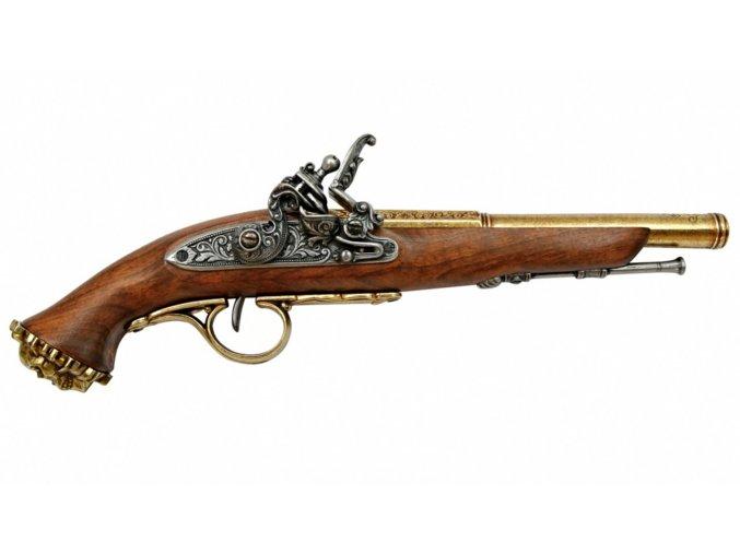 Replika Pistole pirátská, 18.stol. zlatá