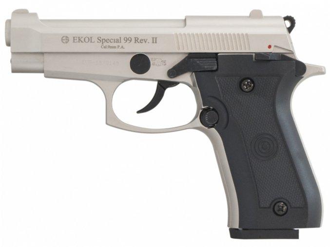 Plynová pistole Ekol Special 99 REV II satén cal.9mm