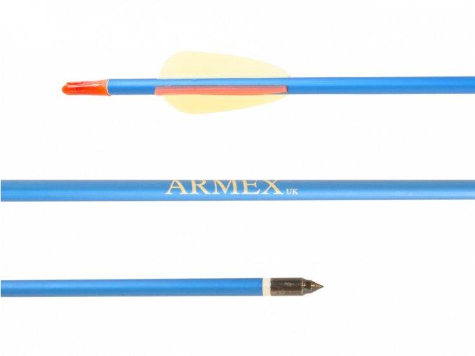 """Šíp duralový 30"""" Armex modrý ostrý"""