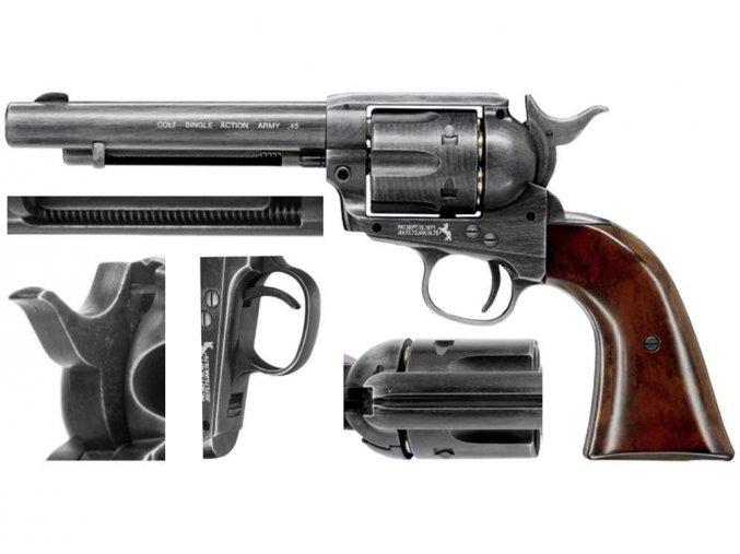 Vzduchový revolver Colt SAA .45 Diabolo Antique