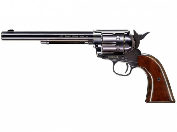 "Vzduchový revolver Colt SAA .45-7.5"" BB blued"