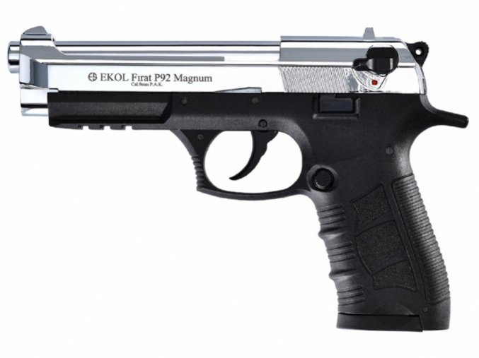 Plynová pistole Ekol Firat Magnum P92 chrom cal.9mm