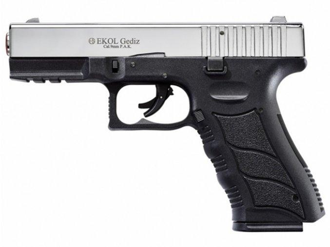 Plynová pistole Ekol Gediz chrom cal.9mm