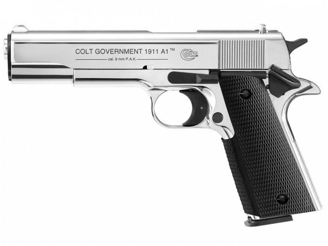 Plynová pistole Colt Government 1911 A1 chrom cal.9mm