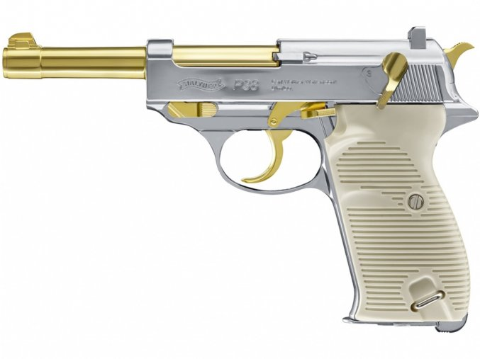 Vzduchová pistole Walther P38 Gold Edition