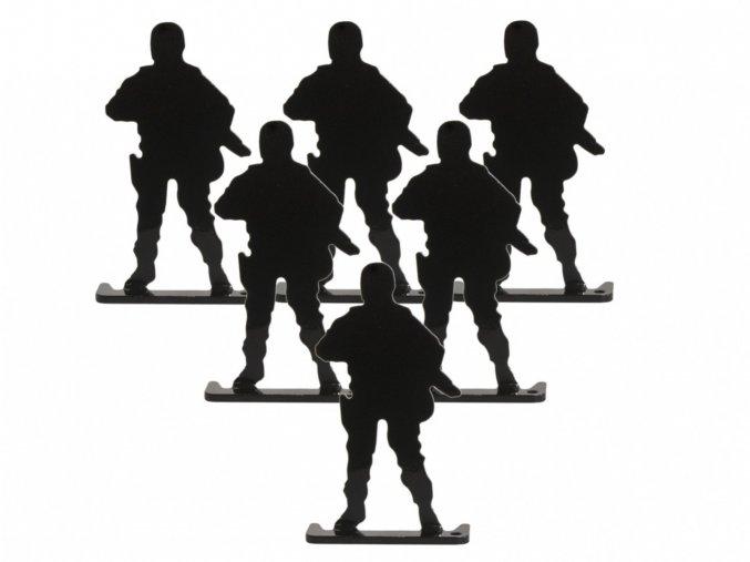 Terče Raven kovoví vojáci 6ks