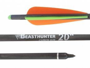 """Šíp carbon 20"""" Beast Hunter Elite HalfMoon 1ks"""