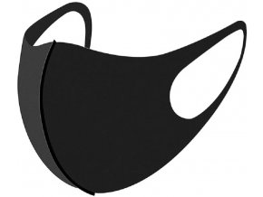Rouška pratelná, polyester, černá