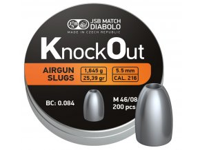 Diabolo JSB KnockOut Slugs .217 200ks cal.5,5mm