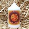 Svíčka se znamením zvěrokruhu - lev - 8,2 x 4,9 cm - oranžová