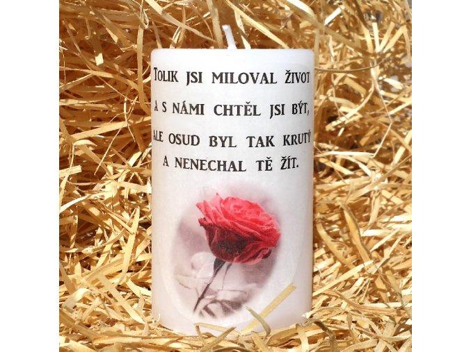 Svíčka na památku zesnulým - 11,5 x 7 cm