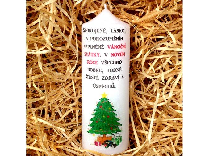 Vánoční a novoroční svíčka - 17 x 6 cm