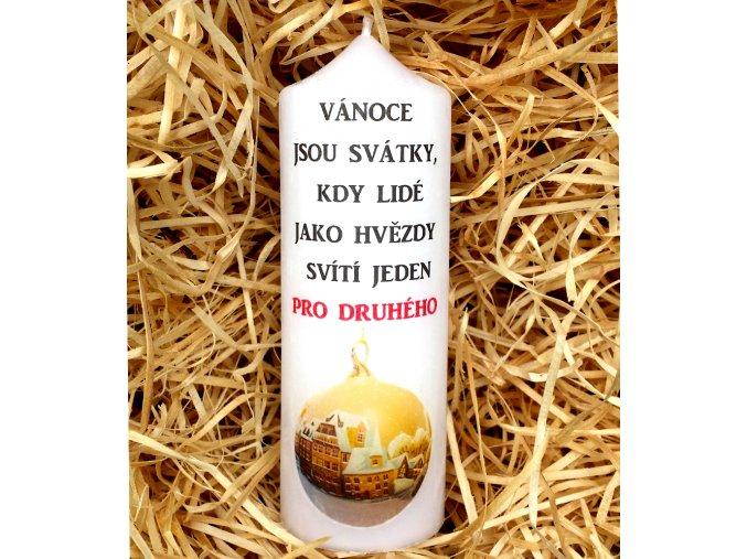 Vánoční svíčka - 17 x 6 cm