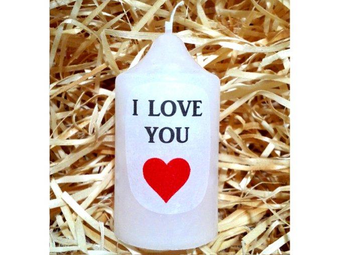 Dárková svíčka s vyznáním lásky - 8,2 x 4,4 cm 2