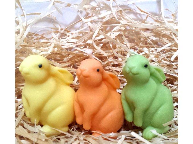 Sada svíček - tři velikonoční zajíci