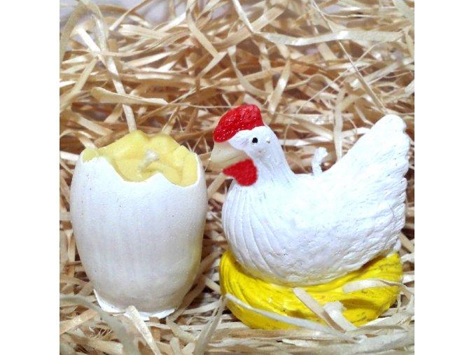 Sada svíček - vajíčko a slepička