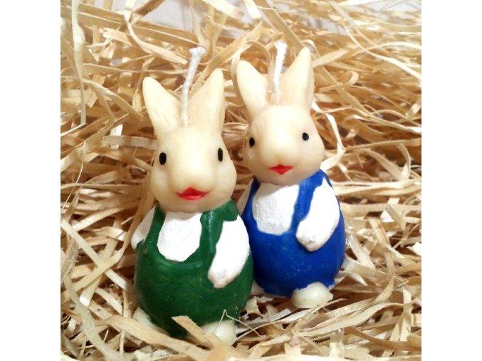Sada svíček - dva malí zajíčci