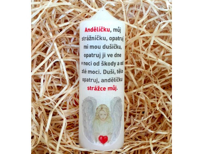 Svíčka s modlitbou - dárkové balení - 17 x 6 cm 1