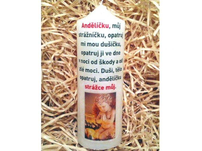 Svíčka s modlitbou - dárkové balení - 17 x 6 cm 9