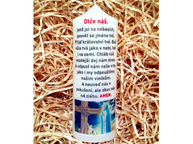 Svíčka s modlitbou - dárkové balení - 17 x 6 cm 12