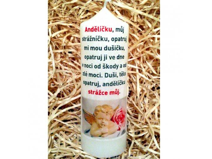 Svíčka s modlitbou - dárkové balení - 17 x 6 cm 15