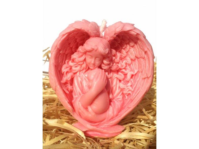 Svíčka - anděl s miminkem