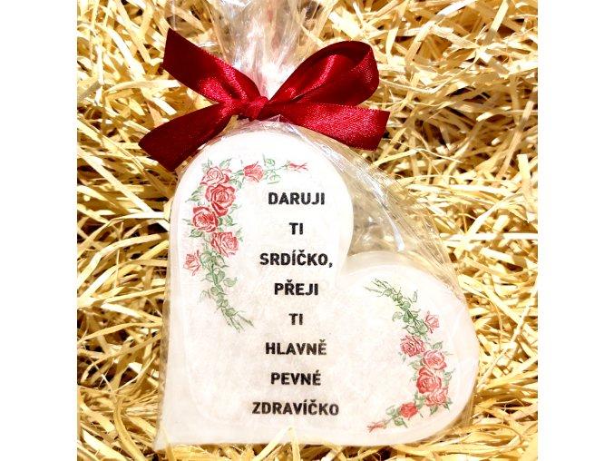 Dárková svíčka k narozeninám - srdce 11 cm 3