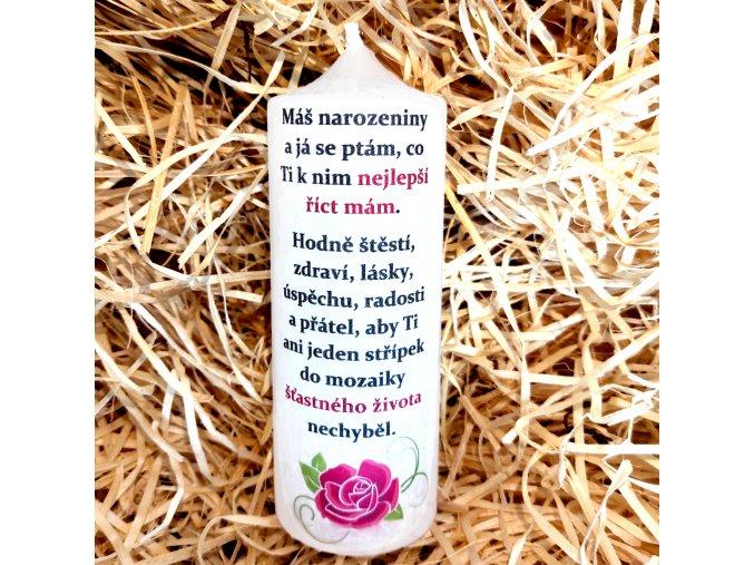 Dárková svíčka s narozeninovým potiskem - 17 x 6 cm 5